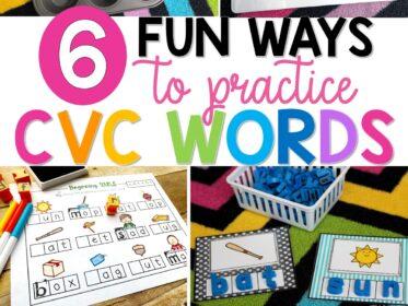 6 fun ways to decode CVC words