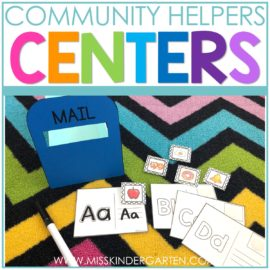 Community Helpers Centers for Kindergarten
