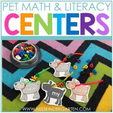Pet Theme Centers for Kindergarten