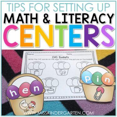 Kindergarten Learning Centers