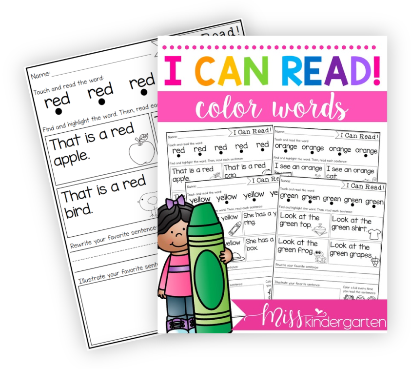 Distance Learning Worksheets And Activities For Kindergarten