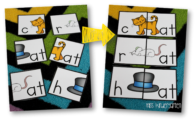 teaching cvc words with puzzles