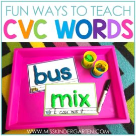 5 Fun Activities for Teaching CVC Words
