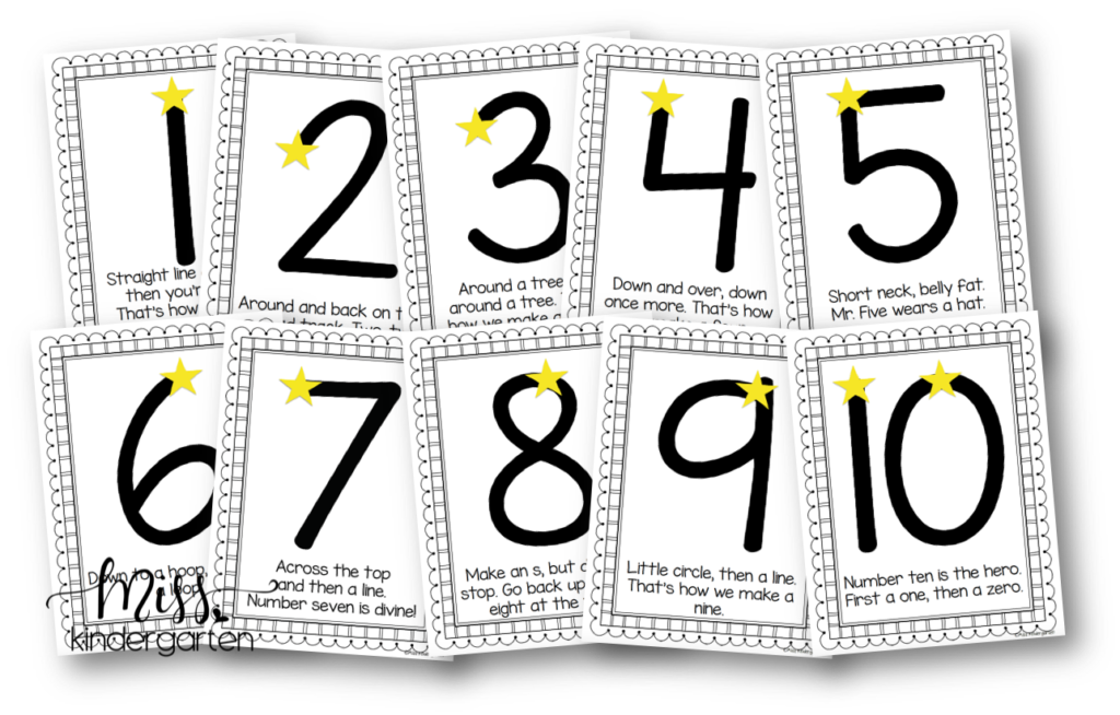 free number formation posters
