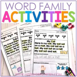 Fun Word Family Activities to Teach Reading