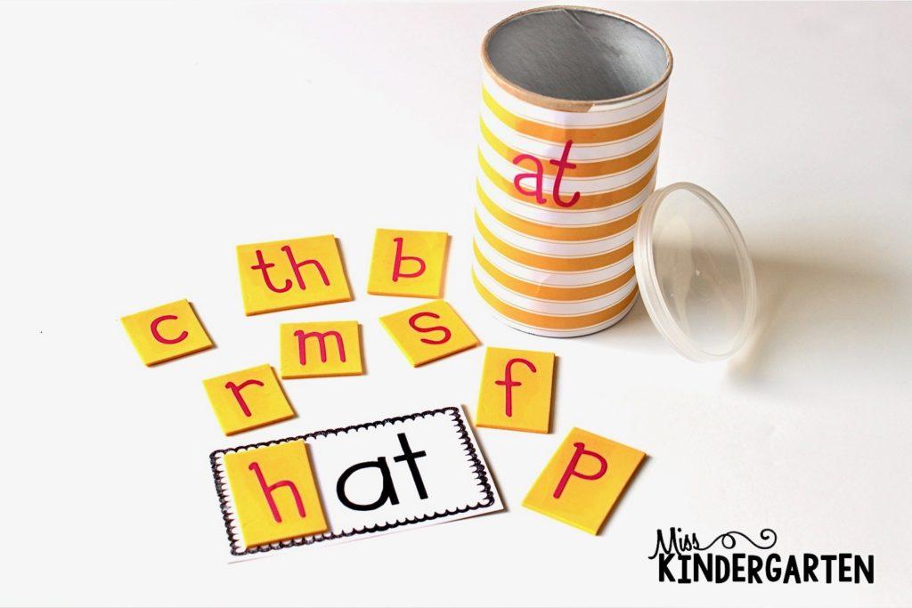 DIY word family activities