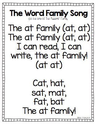 word family song