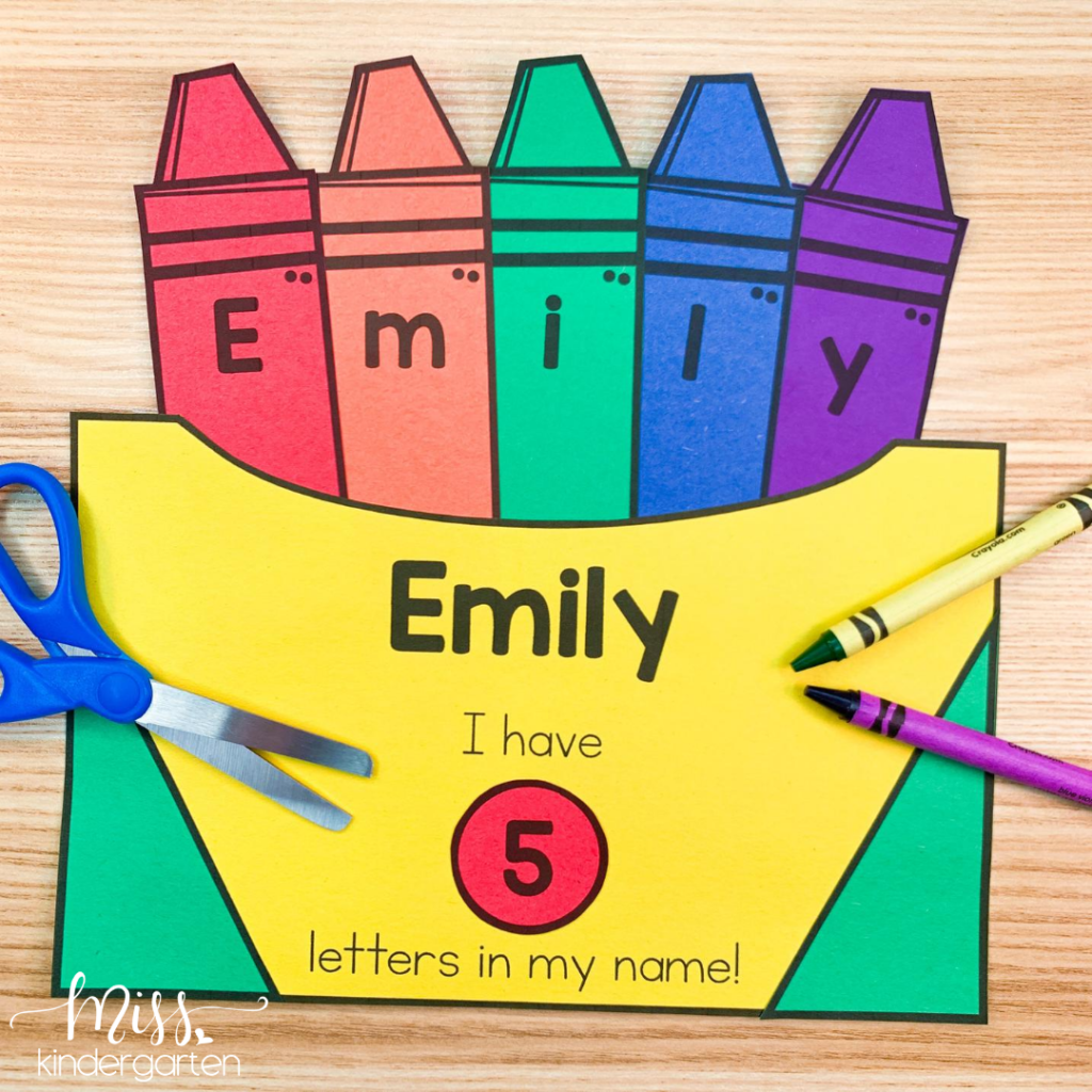 Complete crayon box name craft