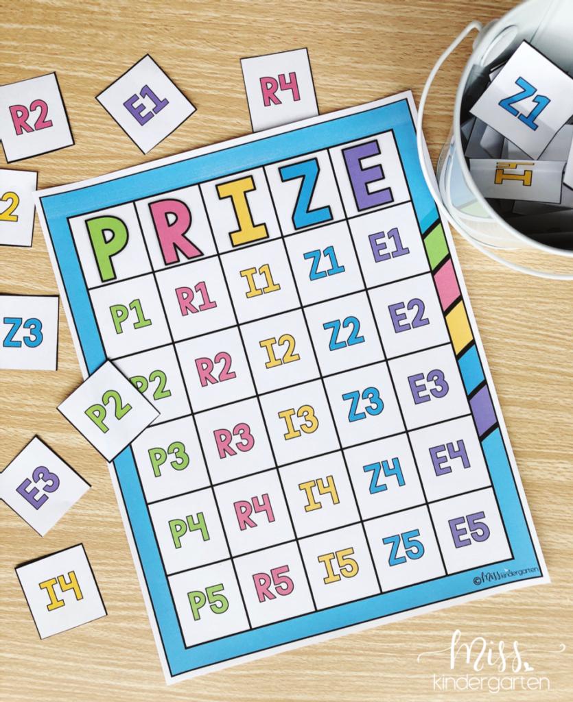 behavior bingo board chart