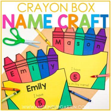 Crayon Box Name Craft
