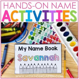 Hands-on Ideas for Name Writing Practice