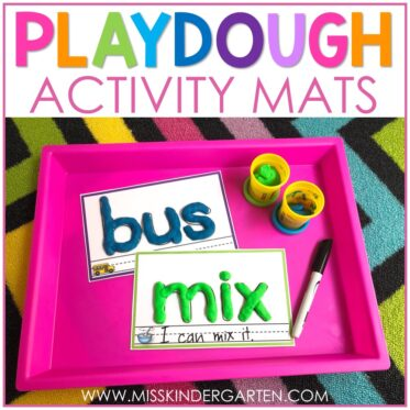 Learning With Playdough Mats