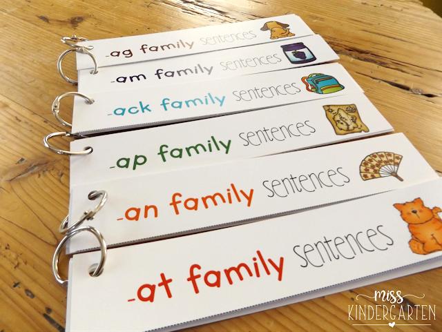 word family sentences