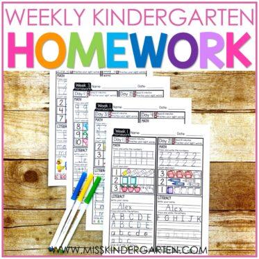 Making Homework Work In Kindergarten