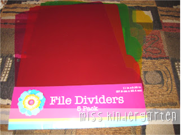 colored file dividers