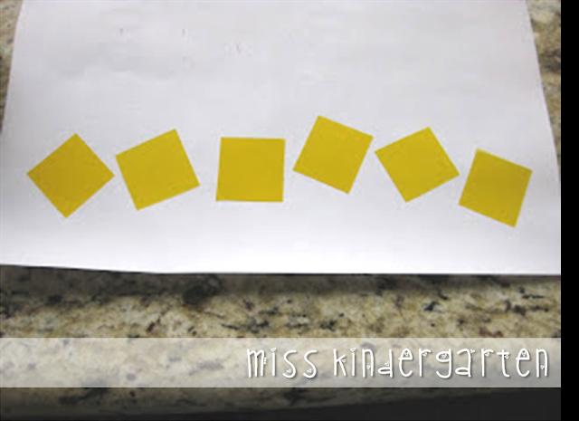 1-inch colored transparent squares