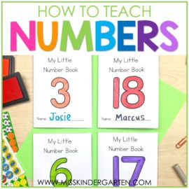 Writing Numbers in Kindergarten