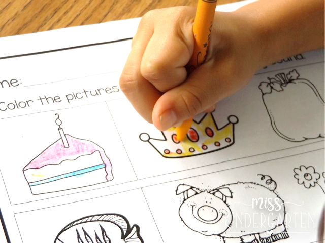 beginning sounds coloring page