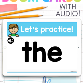 Sight Word Boom Cards ™ Make Learning Fun!