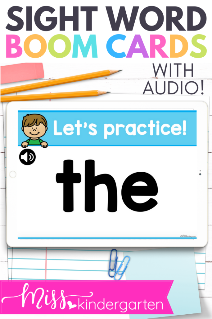sight word boom cards