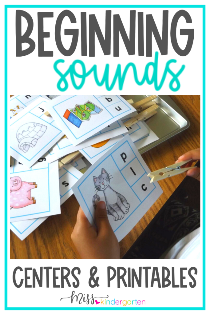 Beginning Sounds Activities Miss Kindergarten