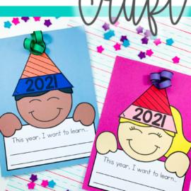 New Year Writing Activity & Craft