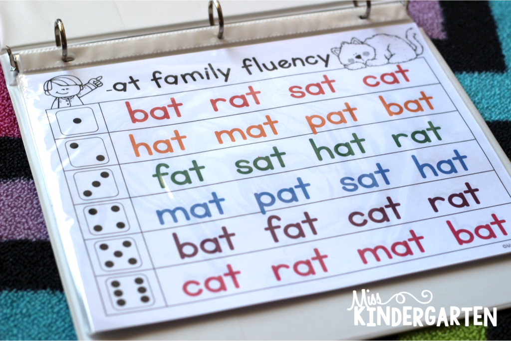 Use word families to help students develop and improve reading fluency