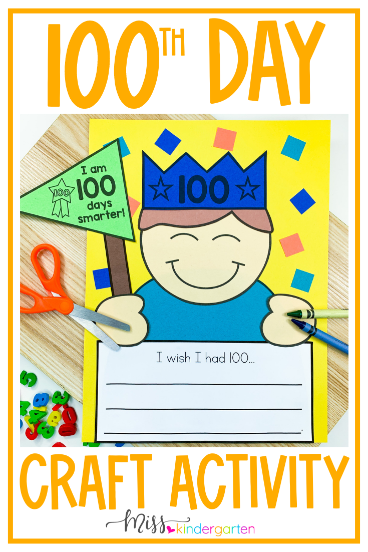 Fun 20th Day of School Writing Prompts and Craft   Miss Kindergarten
