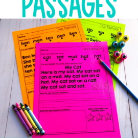 FREE Kindergarten Reading Fluency Passages