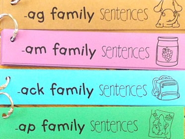 Use sentence strips for students to identify words in a specific word family.
