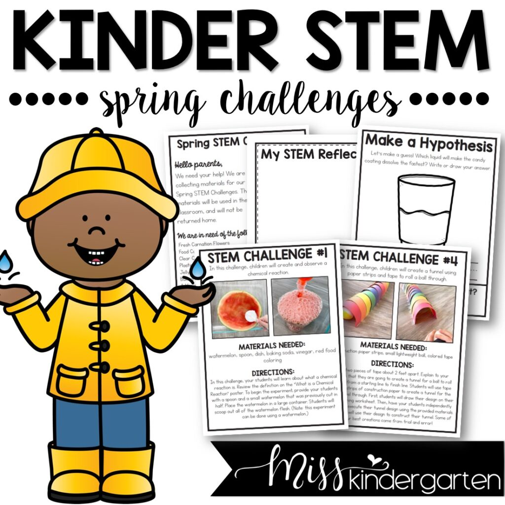 kindergarten stem activities that are perfect for spring