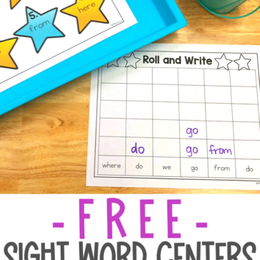 FREE Sight Words Center Your Students Will Love!