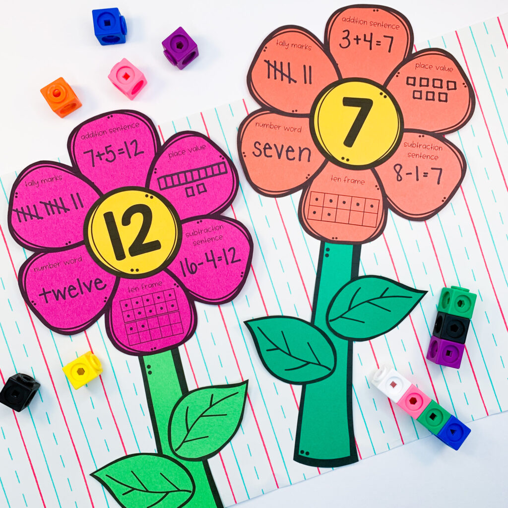 help students reinforce number sense skills with these number flowers