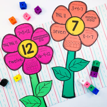 FREE Spring Math Flower Craft To Practice Fluency