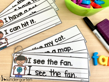 Easy to prep sight word sentences make a great word work center