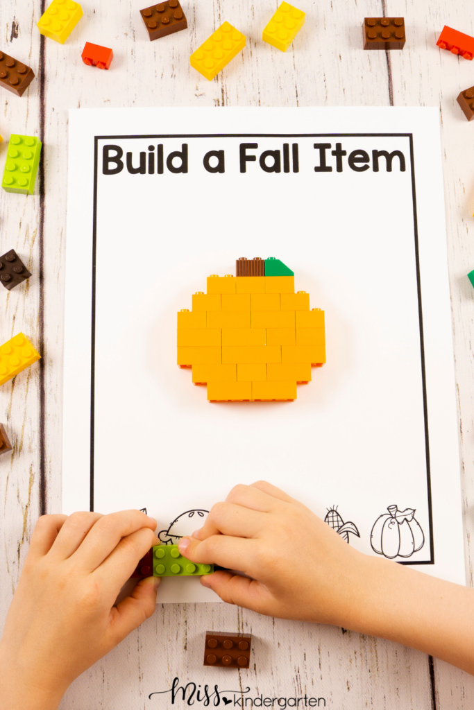 this building STEM activity encourages students to use their creativity, design and problem solving skills to build a fall item