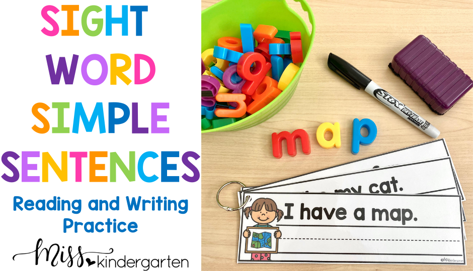 Simple Sentences are a great way to help students practice reading and writing sight words