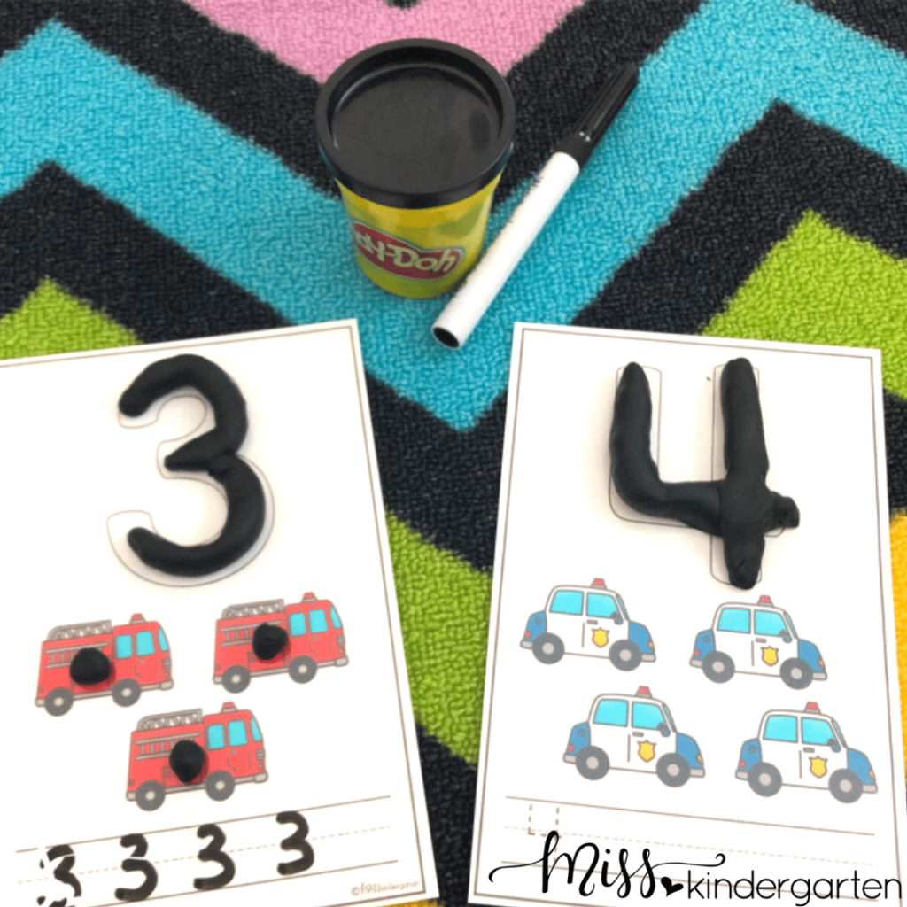play dough mats are perfect for the first day of centers