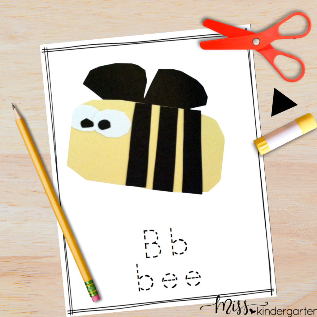 Easy Crafts for Preschool and Kindergarten are a great way to work on fine motor skills and phonics