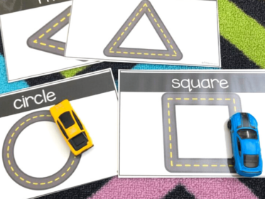 students love learning shapes with these car themed shape cards