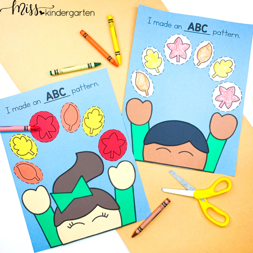 Use this ABC pattern craft to help your students practice pattern identification and fine motor skills.