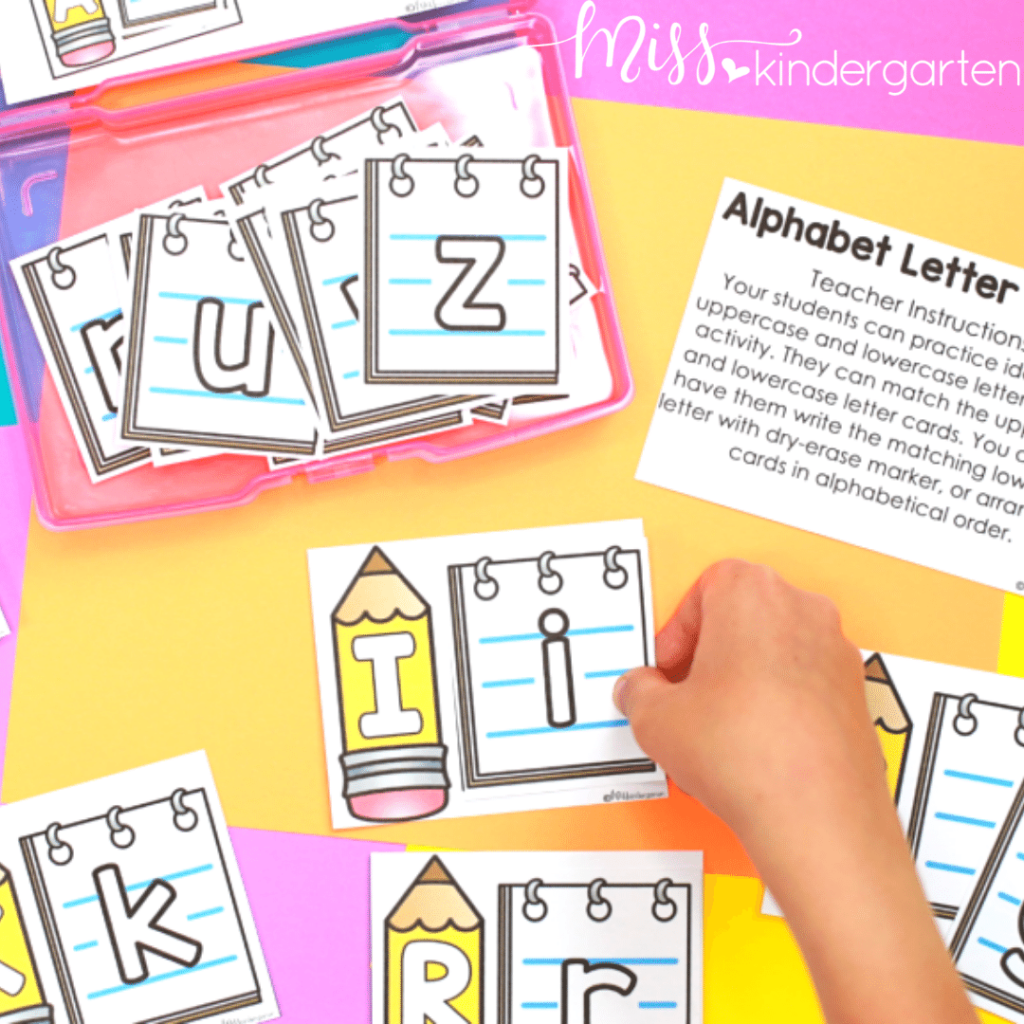 alphabet matching puzzles are a great center activity