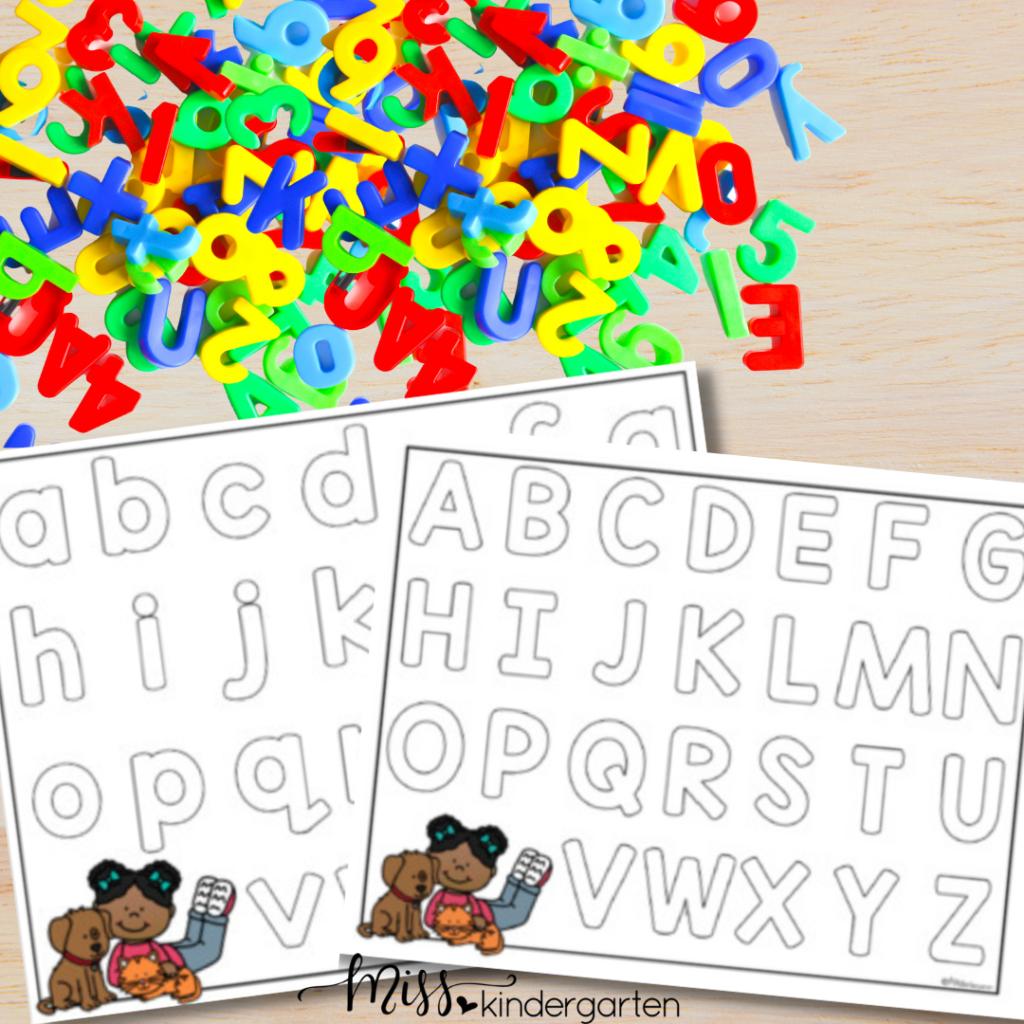 free alphabet sorting mat
