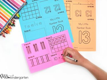These Little Number Books are the perfect way to introduce numbers to students. Inside one book students work on number recognition, writing numbers, number words, ten frames and more.