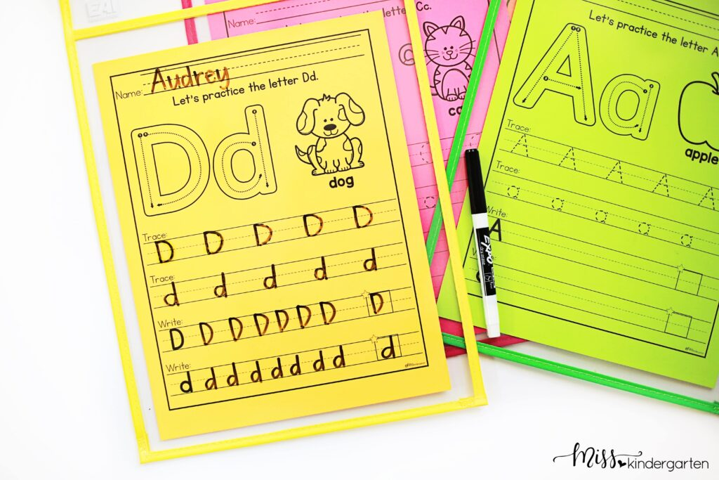 letter writing practice helps students learn the proper letter formation