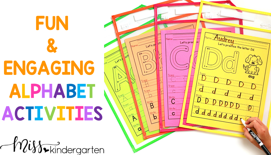 fun and engaging activities to help your students learn the alphabet