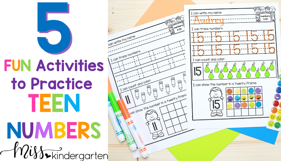 5 fun and engaging ways to practice teen numbers