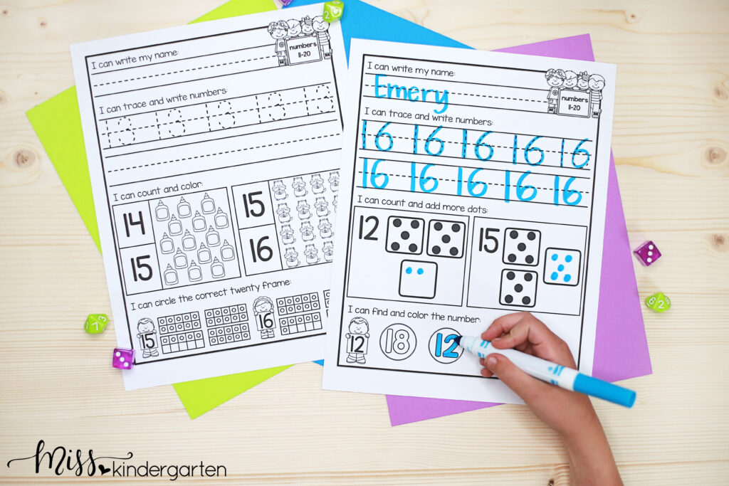fun and engaging teen number practice pages make a great math center, morning work, small group instruction or homework