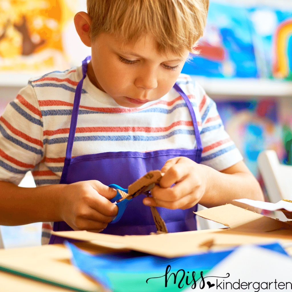 crafts are a great way to engage students while working on fine motor skills