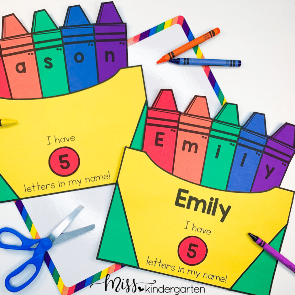 Help students learn to write and spell their name with this fun craft activity